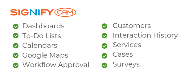 CRM Software Service Features