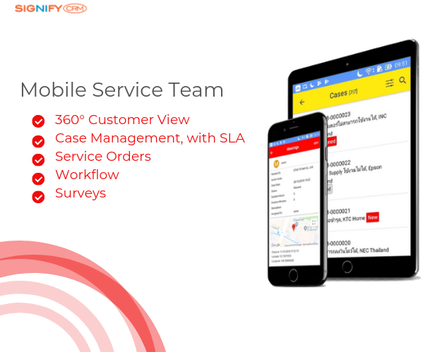Mobile Service Team using SignifyCRM