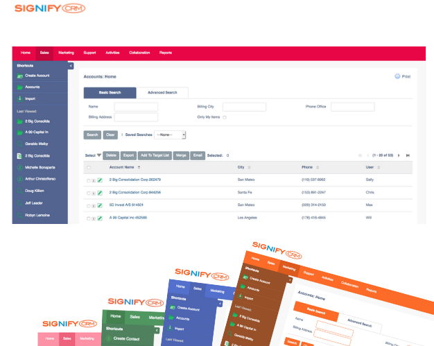 SignifyCRM Themes