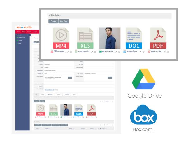 CRM GoogleDrive Box.com Integration